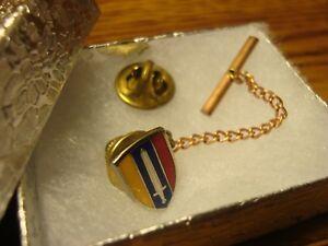 U-S-ARMY-Vintage-U-S-Forces-VIETNAM-Silver-Tone-Tie-Pin-Lapel-Pin-w-clutch