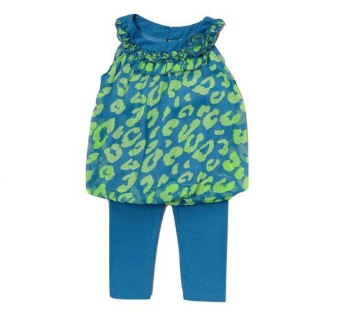 "NEW /""CHIFFON LEOPARD Blue/"" Capri Pants Girls 2T Spring Summer Clothes Baby Kids"