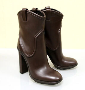 1250-New-Authentic-GUCCI-Runway-Leather-Platform-Boots-36-5-6-5-Brown-270515
