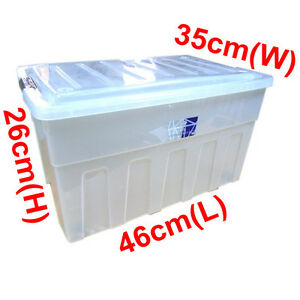 Image Is Loading 32 Litre Clippy Clip Handle Plastic Trendy Storage