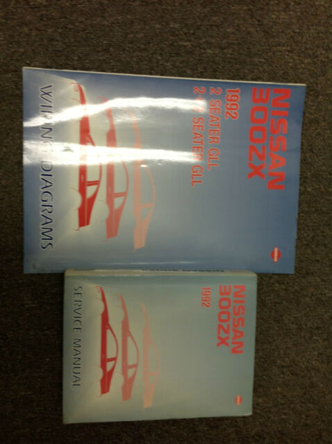 1992 Nissan 300zx 300 Zx Service Repair Shop Manual Set Electrical Wiring Book X