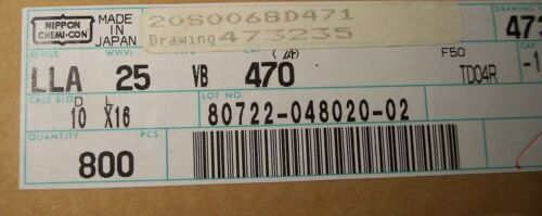 20 470uf 25V 10x16mm RADIAL LOW LEAKAGE ELECTROLYTIC LLA25VB470 NIPPON QTY