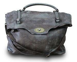 Made-in-Italy-Schultertasche-Messenger-Crossbody-Bag-Usedlook-washed-Leder-Braun