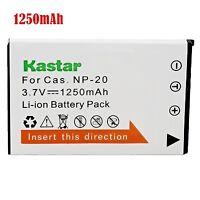 1x Kastar Battery for Casio NP-20 Exilim EX-M1 EX-M2 EX-M20 EX-S1 EX-S2 EX-S3