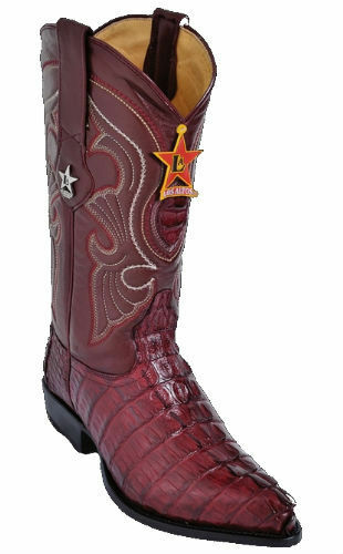 LOS ALTOS CAIhomme Queue Bottes de cow-boy J-Toe 990106 Bourgogne