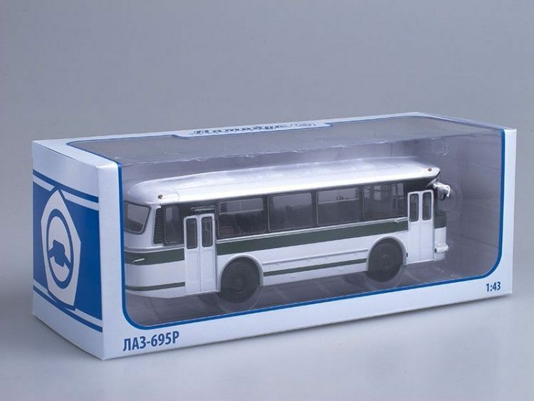 LAZ-695R white-green Retro USSR City Bus 1 43 43 43 diecast scale model. Soviet Bus a9a1c4