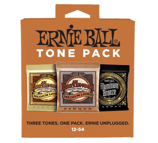 ERNIE BALL ACOUSTIC TONE PACK - Set di 3 Mute per Acustica Medium Light 12/54