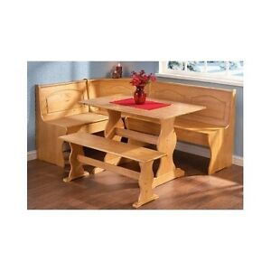 Corner bench booth breakfast nook set kitchen dining - Kitchen table booth seating ...