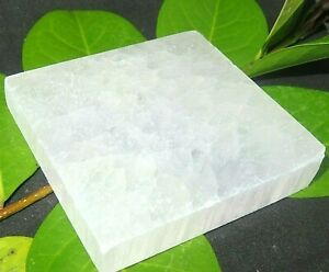 1-PC-Selenite-034-Charging-034-Plate-Flat-Natural-Crystal-Display-Reiki-Polished