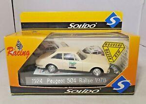 SOLIDO-RACING-1-43-DIECAST-1978-PEUGEOT-504-RALLYE-1924-NEW