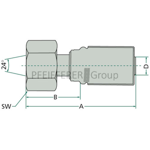 V-Nr 6G-12FDLORX 12L GATES Pressnippel metrisch PNE 10 DKOL M18x1.5