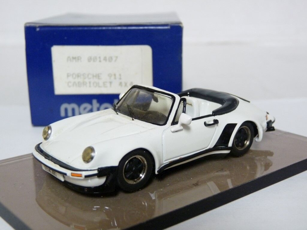 AMR 1407 1 43 '81 Porsche 911 Turbo Cabriolet 4x4 Weiß Metal Handmade Model Car