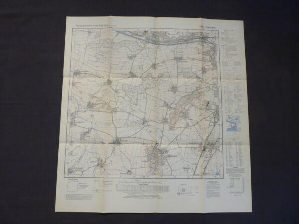 100% Wahr Landkarte Meßtischblatt 3623 Gehrden, Benthe, Ahlem, Stemmen, Ronnenberg, 1961