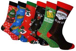 1-Pair-Mens-Christmas-Socks-Fun-Novelty-Xmas-Gift-Great-Stocking-Filler-6-11