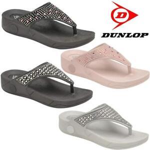Ladies-Low-Wedge-Heel-Comfort-Walking-Fit-Flip-Flops-Fitness-Summer-Sandals-Shoe