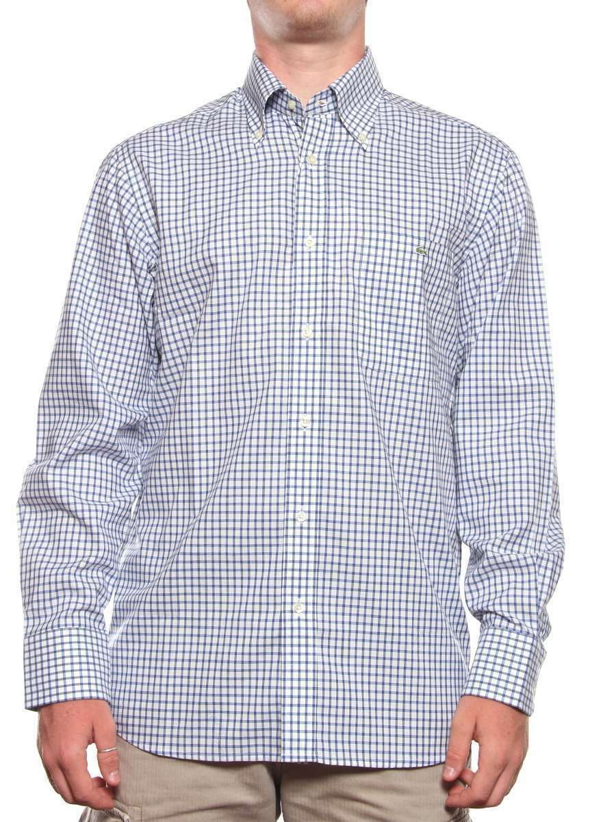 CH2028 PPF LACOSTE REGULAR FIT CH2028 PPF BIANCO bleu Camicia Button-Down hommeica