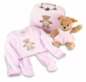 Steiff® 239618 Ensemble cadeau Sleep Well Bear, rose Nouvelle rareté non utilisée