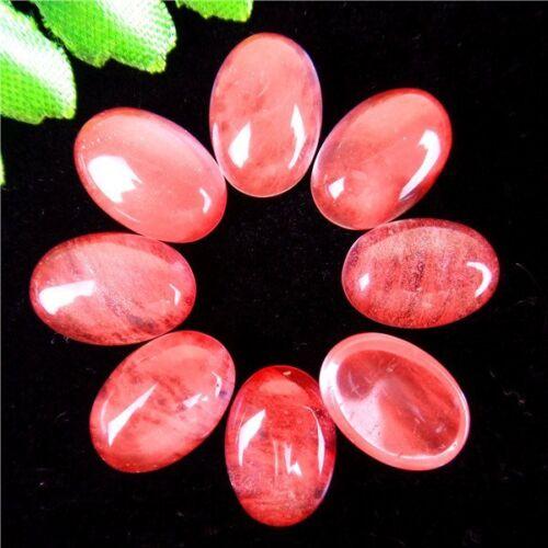 8Pcs selección múltiple Mezclado Piedras Preciosas Ágata Oval Cab Cabujón 14*10*5mm AE5035