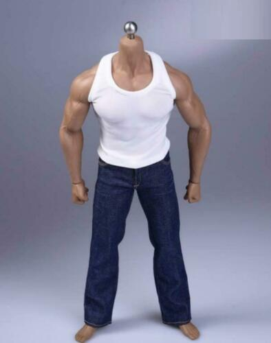 1//6 tank top vest Jeans set for 12/'/' male MUSCULAR  Body TBL PHICEN M34 M35