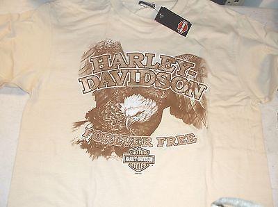 """Harley-Davidson natural /""""forever freedom eagle/"""" t-shirt"""