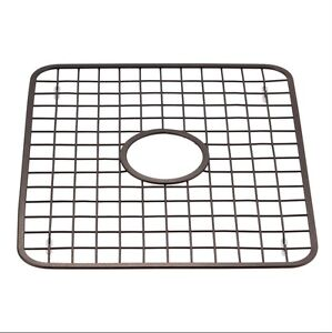 Kitchen Sink Grid Protector Rack With Drain Hole In Middle