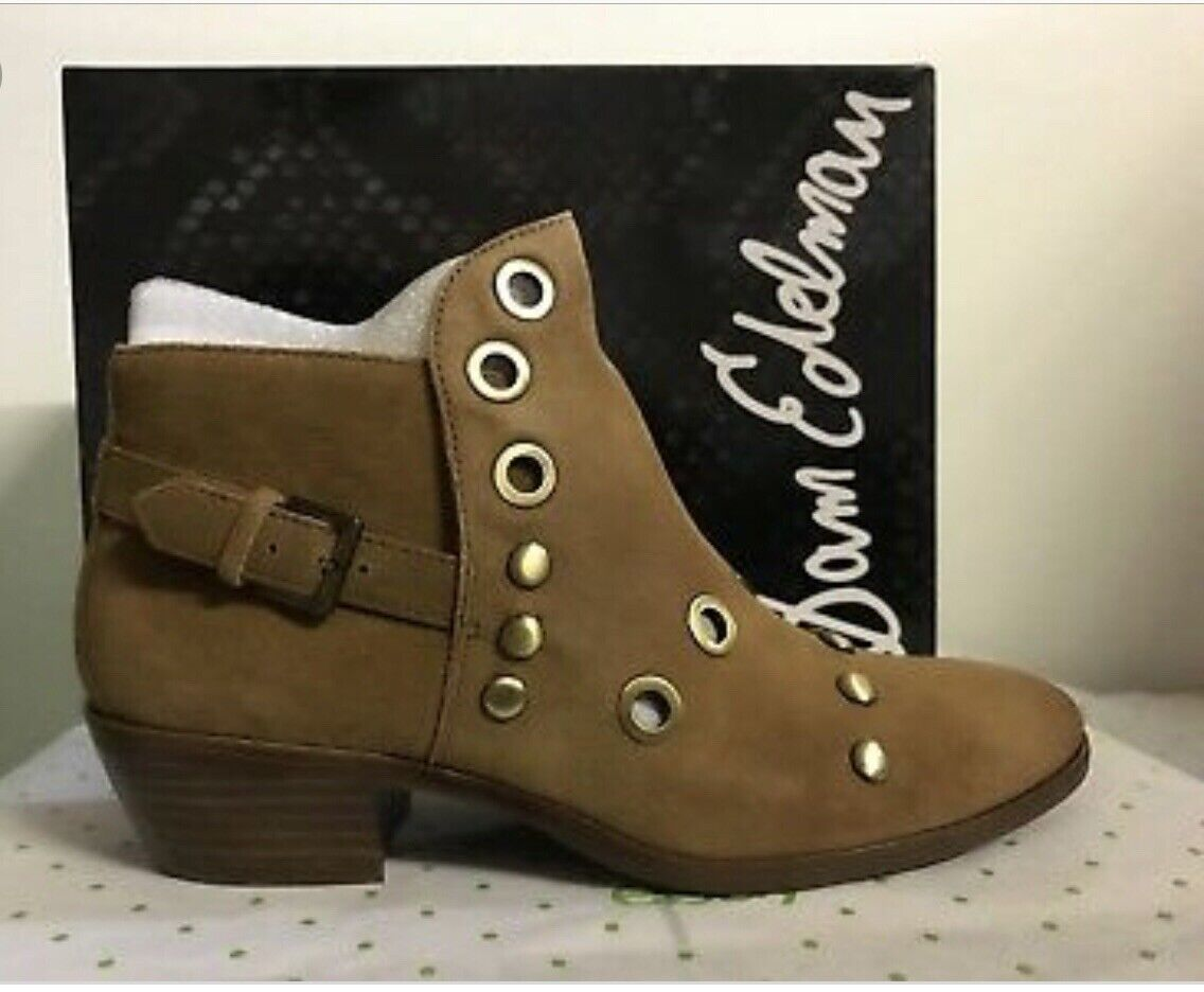 Sam Edelman Suede Grommet Booties Size 8 Ankle Boots