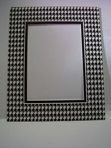 image is loading picture frame mat 18x24 for custom opening houndstooth