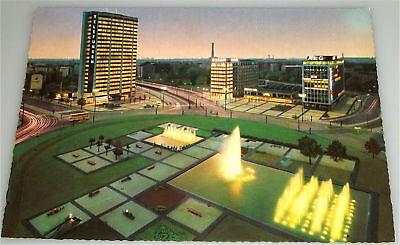 Ernst Reuer Platz NACHT Berlin AK 60er Jahre ungelaufen  å  *