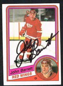 John Barrett #49 signed autograph auto 1984-85 O-Pee-Chee Hockey Card