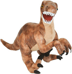"Wild Republic Plush 30"" Velociraptor Dinosaur Stuffed Animal Toy Kids Dino"