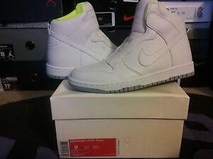 Womens Nike Dunk High Hi Lux SP Sacai White Wolf Grey Volt wmns wedge 776446 117