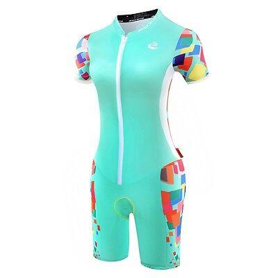 Women Body Suit Triathlon One Piece Suit Cycling Jumpsuit Riding Jersey Garment