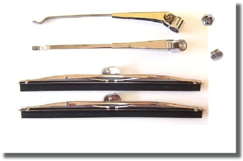 1937 1938 1939 1940 Chevrolet Windshield Wiper Arms and Blades Set
