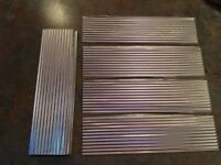 Corrugated Roofing Metal - For Kit Building, Model Railroading, Bird House
