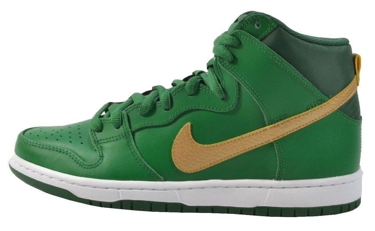 Nike DUNK HIGH PRO SB Green Metallic gold St. Patricks Day (D) (231) Men's shoes