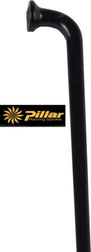 4 verstärkte schwarze Speichen 278 mm  2,2 x 1,8 x 2,0 mm Pillar Spokes TB 2018