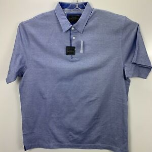 JOS A BANK  Reserve Collection Men's XXLarge Blue Polo  Golf Shirt NWT's (O15)