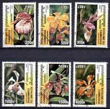 Flore - Orchidées Cambodge (24) série complète de 6 timbres oblitérés