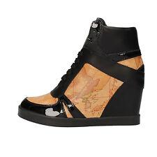 scarpe donna 1° CLASSE ALVIERO MARTINI 37 sneakers nero beige pelle AF222-C