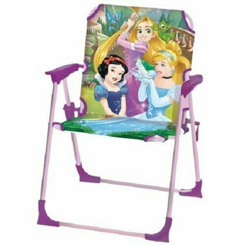 NEW Kids Bambini Disney principessa giardino Indoor/Outdoor Sedia Pieghevole da giardino