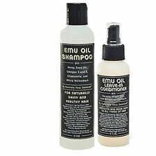 Emu Oil Shampoo and Sprayable Leave In Conditioner Set for Dry Hair