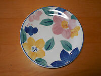 Johnson Brothers England MARIE Set of 4 Salad Plates Blue Pink Yellow Flowers 8