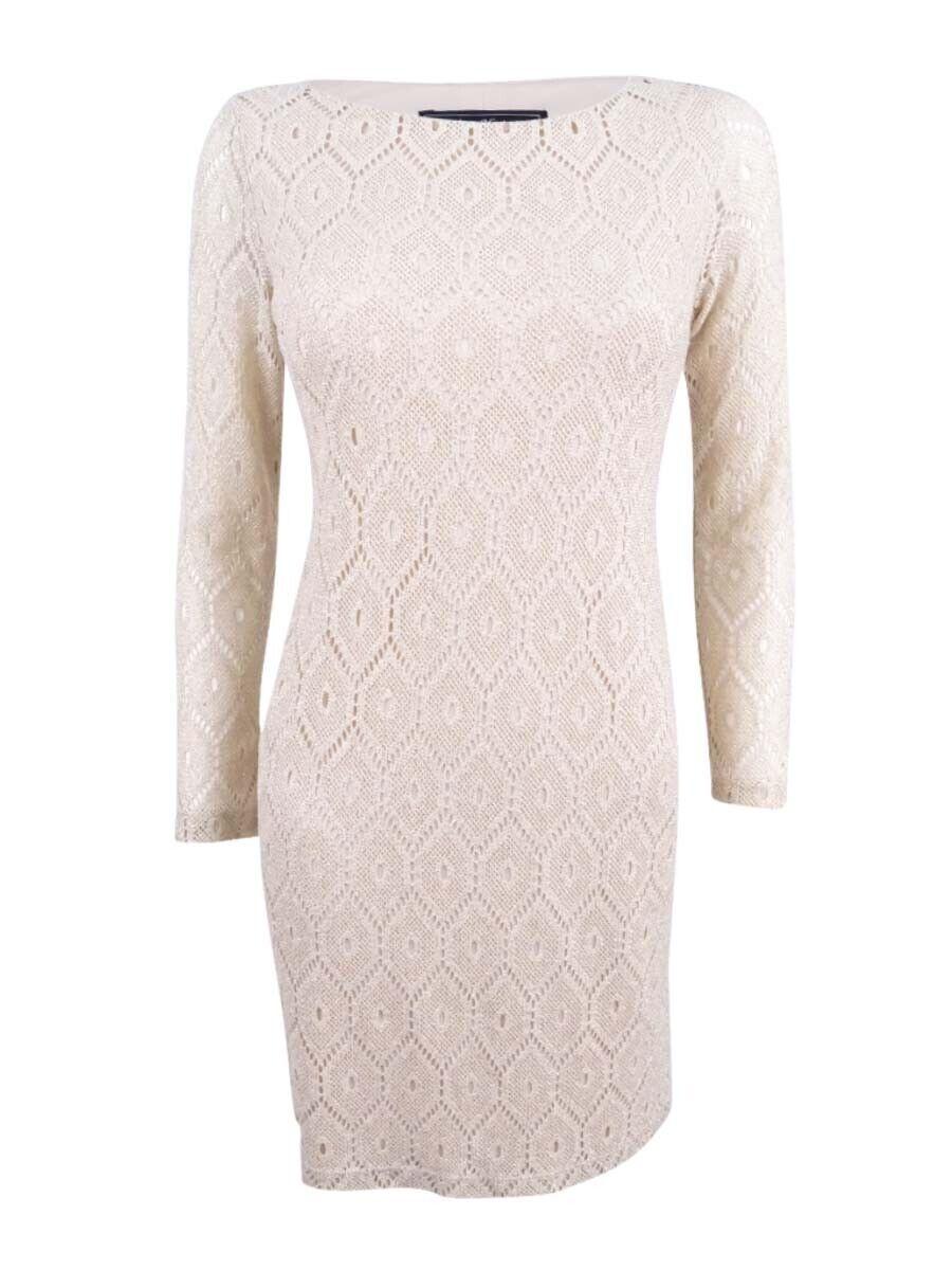 6b9783e35c87 ... Jessica Howard Women's Women's Women's Petite Metallic-Lace Shift Dress  6e0d0d ...