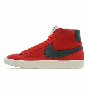 Nike blazer alte in pelle da donna Fusion Rosso