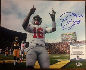 JT-Barrett-Ohio-State-Buckeyes-Autographed-Signed-11x14-Photo-Beckett-Certed