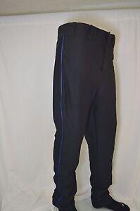 Riddell 2 Snap Button Black Baseball Pants w Royal Blue side Piping ... 0e55cdf67