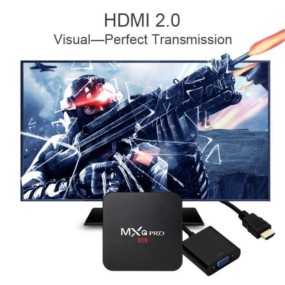 TV Box Android 7.1 Quad Core Smart 1080P HDMI WIFI KODI 17.6 MXQ Pro 4K 3D 64Bit 7