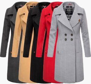 separation shoes e9ccc 8c718 Details zu Navahoo Damen Business Mantel Trenchcoat woll winter Jacke  winterjacke mantel
