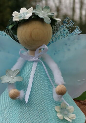 Glücksfee Bastelset Fee Elfe Engel basteln Waldfee Glücksbringer blau rosa weiß