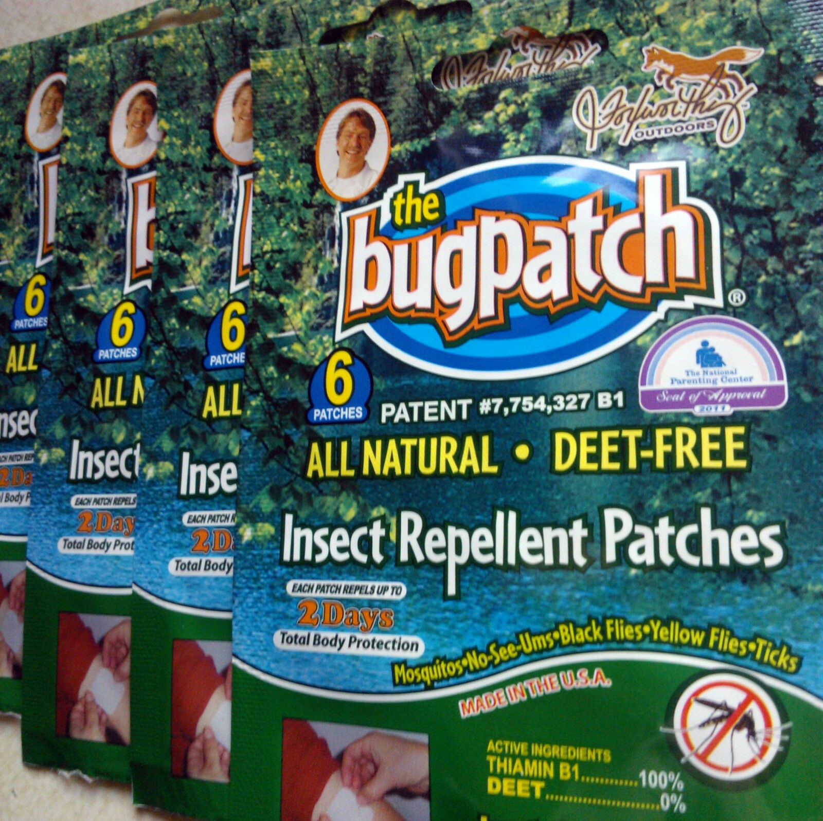 MOSI & OTHER BITING  INSECT REPEL BUG PATCHES PATCHES BUG 1 - 10 wks. supply100% NATURAL c27c62